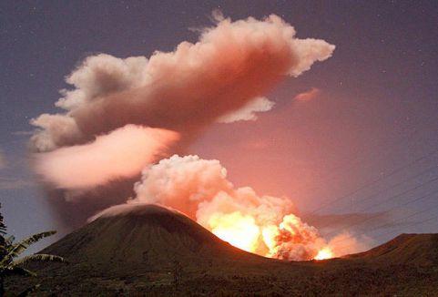 Sinabung'ta patlama artışı