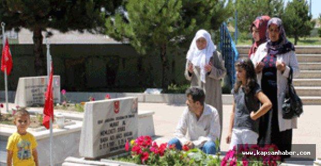 Sivas'ta şehitlik ve kabirlere ziyaretçi akını