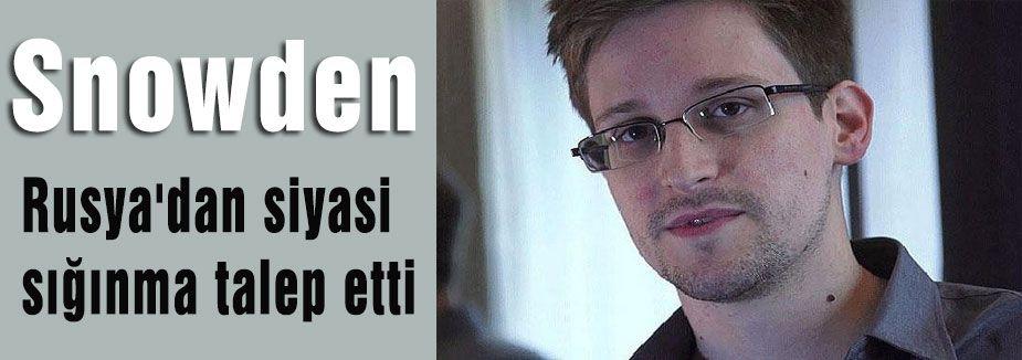 Snowden sığınma talebi