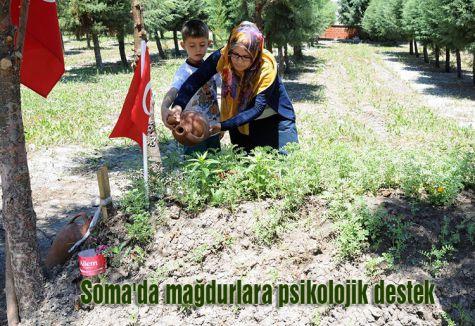 Soma'da mağdurlara psikolojik destek