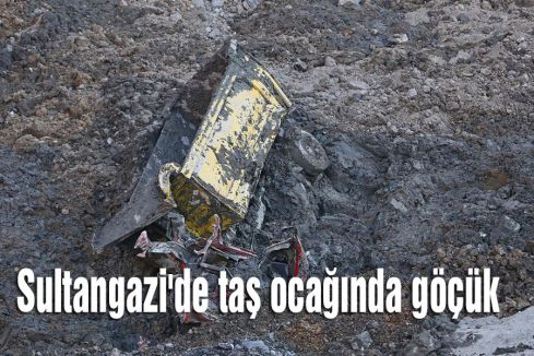Sultangazi'de taş ocağında göçük