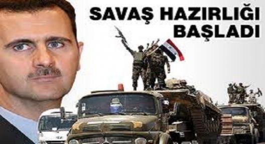 Suriye Savaş Hazırlığına Başladı