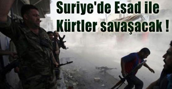 Suriye'de Esad ile Kürtler Savaşacak !