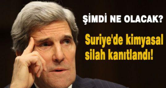 Suriye'de kimyasal silah kanıtlandı!