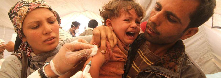 Suriyeli Kürtlere sağlık taraması