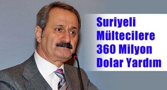 Suriyeli Mültecilere 360 Milyon Dolar
