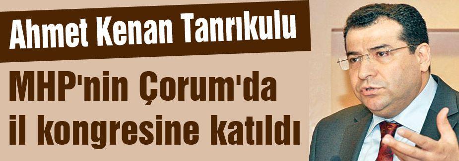 Tanrıkulu, MHP'nin Çorum'da il kongresine katıldı