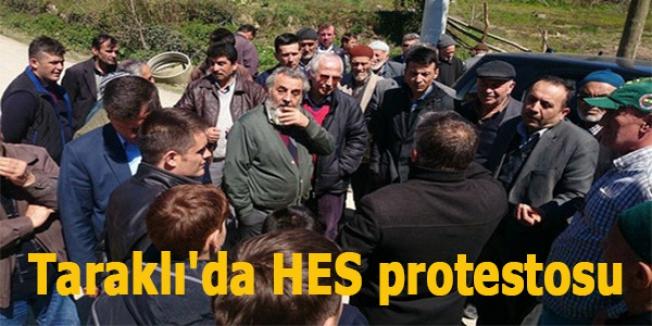 Taraklı'da HES protestosu