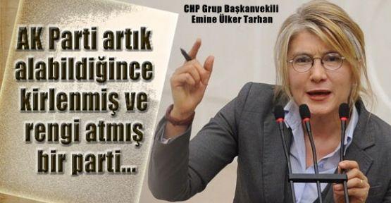 """Tarhan, """"AKP'nin eline şehitlerin kanı bulaşmıştır'"""