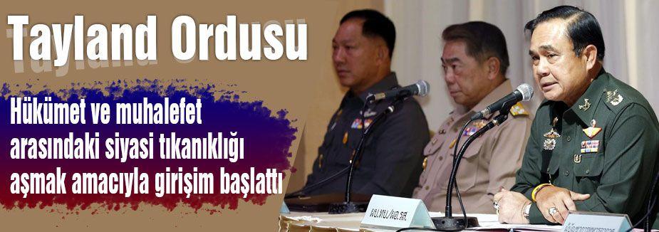 Tayland'da Ordudan Arabuluculuk Girişimi