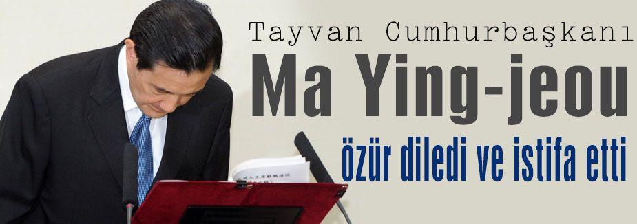 Tayvan Cumhurbaşkanı özür diledi ve...