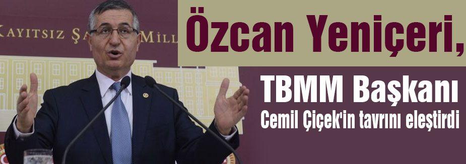 'TBMM Başkanı TBMM'nin Başkanıdır, AKP'yi Koruma yeri değil'