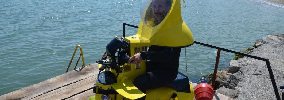 Tek kişilik denizaltı ürettiler