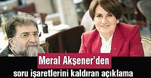 Meral Akşener'den soru işaretlerini kaldıran açıklama