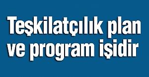 Teşkilatçılık plan ve program işidir