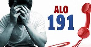 Alo 191'e 10 ayda 65 bin 680 çağrı