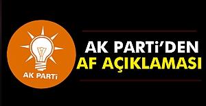 Ak Parti#039;den AF Açıklaması