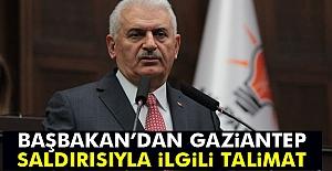 Başbakan'dan Saldırıyla İlgili Talimat!