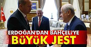 Erdoğan'dan Bahçeli'ye Büyük Jest