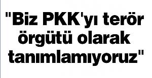 """""""Biz PKK'yı terör örgütü olarak tanımlamıyoruz"""""""