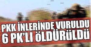 Kars'ta 6 terörist öldürüldü