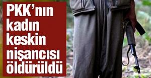 Terörist kadın keskin nişancısı öldürüldü