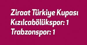 Kızılcabölükspor: 1 - Trabzonspor: 1