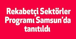 Rekabetçi Sektörler Programı Samsun'da tanıtıldı