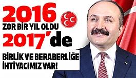 Erhan Usta: 2017 Zor Bir Yıl Olacaktır!
