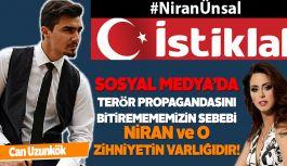 Can Uzunkök: Niran Ünsal sosyal medyada teröre dolaylı destek verdi.