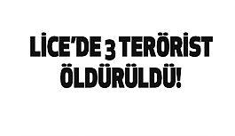 Licede 3 Terörist Öldürüldü