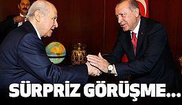 Cumhurbaşkanı Erdoğan, Başbakan Yıldırım ve Bahçeli Bir Araya Geldi