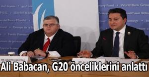 Ali Babacan, G20 önceliklerini anlattı