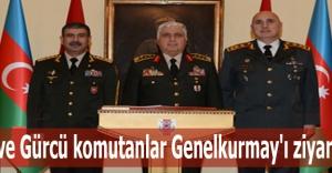 Azeri ve Gürcü komutanlar Genelkurmay#039;ı ziyaret etti