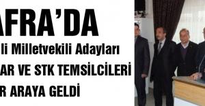 Bafra#039;da MHP muhtar ve STK temsilcileri ile bir araya geldi