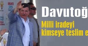 Davutoğlu: TSK görevini mükemmelen yapıyor