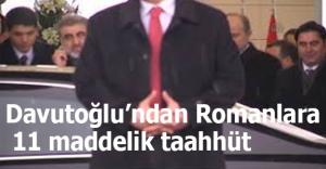 Davutoğlundan Romanlara 11 maddelik taahhüt