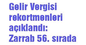 Gelir Vergisi rekortmenleri açıklandı: Zarrab 56. sırada