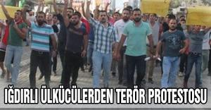 Iğdırlı ülkücülerden terör protestosu