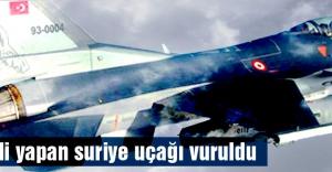 Sınır ihlali yapan suriye uçağı vuruldu...