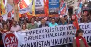 Solcular Yunan Hükümetine destek verdi