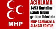 1453 Kartalları Liderinin MHP'yle İlgisi Yok!