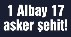 1 Albay 17 asker şehit!