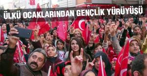 Sivas'ta Ülkü Ocaklarından Gençlik yürüyüşü