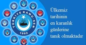 Türkiye Kamu-Sen'e bağlı Sendikalar ortak açıklama yaptı