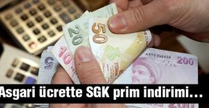 Asgari ücrette SGK prim indirimi....