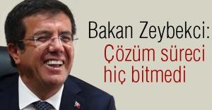 Bakan Zeybakçi'den  Çözüm Süreci'ne cevap