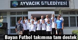 Başkan Belur, Bayan Futbol takımına tam destek verdi