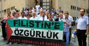 Bursalı avukatların İsrail tepkisi