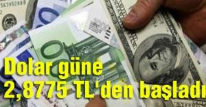 Dolar güne 2,8775 TL'den başladı